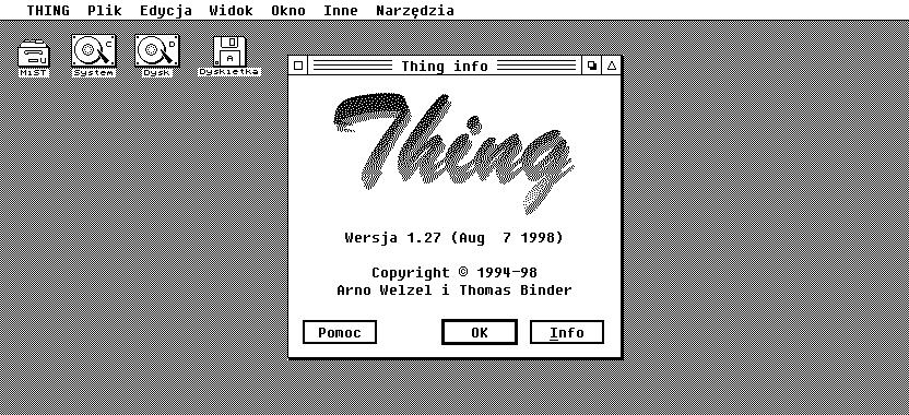 Zrzut ekranu polskiej wersji Thinga.